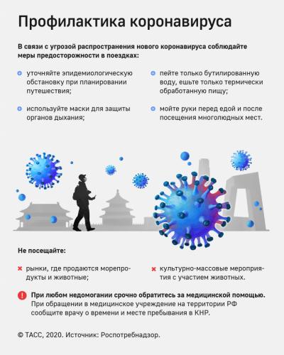 Рекомендации российским туристам, выезжающим в КНР по профилактике новой коронавирусной инфекции.